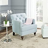 Safavieh Hudson Collection Colin Sky Blue Club Chair, Silver/Black