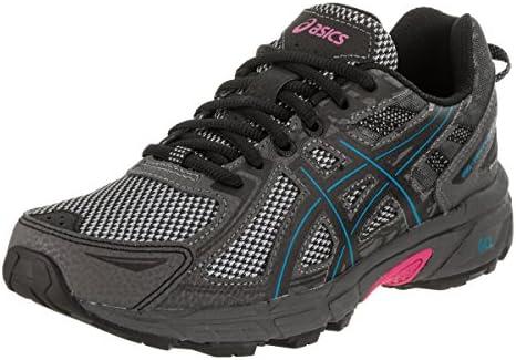 716005c4 ASICS GEL-Venturer 6 Black/Island Blue/Pink Women's Running Shoes ...