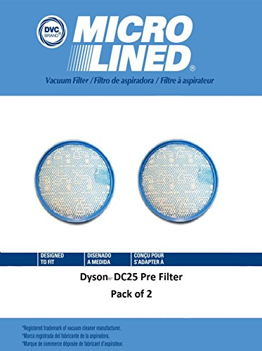 DVC Micro-Lined DVC Created Dyson DC25 Pre Filter Pack of 2 by DVC Micro-Lined