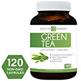 Best Green Tea Extract (NON-GMO) 120 Capsules With High Potency EGCG For Weight Loss & Metabolism Boost - Natural Diet Pills - Powerful Polyphenol Catechins Antioxidant Supplement