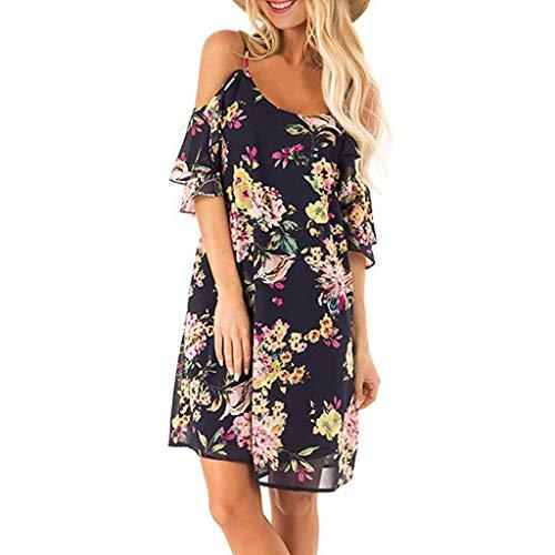 - Qingell Dress Womens Dresses Summer Casual V-Neck Floral Print Geometric Tie Front Spaghetti Strap Midi Dress Black