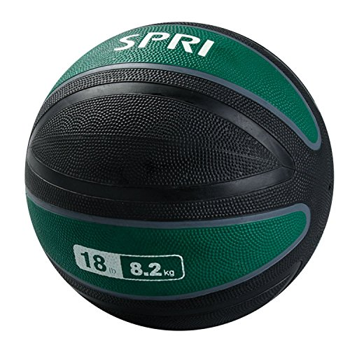 SPRI Xerball Medicine Ball, Green, 18-Pound