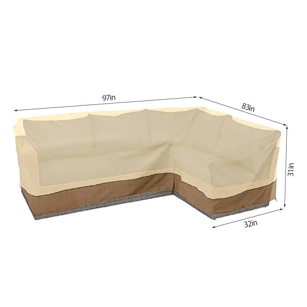 Amazon.com : BullStar Patio Sectional Furniture Cover Waterproof ...