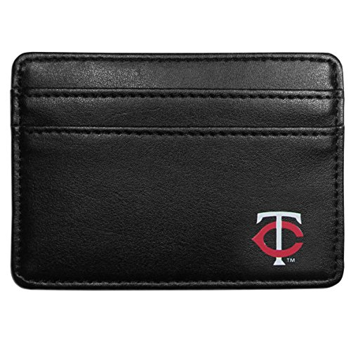 (Siskiyou MLB Minnesota Twins Leather Weekend Wallet, Black)