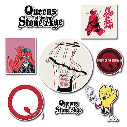 Queens of the Stone Age Sticker Set Pack Rock Band Decal for Car Window, Bumper, Laptop, Skateboard, Wall, ETC. Set-048 -