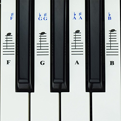 Piano Stickers White Keys Keyboards product image