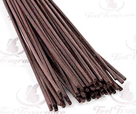 Feel Fragrance Reed Diffuser Sticks Replacement Rattan 12 X 0.12 Inches Brown (30pcs)