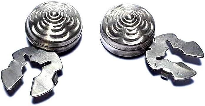 artesanal 1 par de cubrebotones 18 mm diamante col. Plata ...