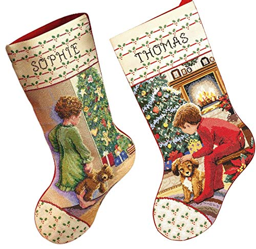 Janlynn Christmas Stockings Counted Cross Stitch, 2 Kits: Wa