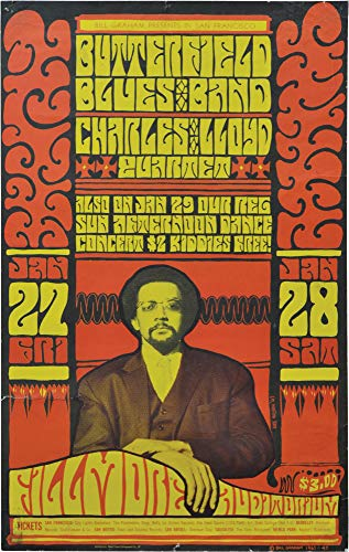 Butterfield Blues Band and the Charles Lloyd Quartet at Fillmore Auditorium (Original 1967 concert poster) ()