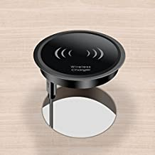 10W Fast Wireless Charger for iPhone X / 8 Plus - Wireless Qi Charging Pad Grommet Hole on Office Desks Conference Tables Counter Tops Desk Charger for Samsung Note 8 S8 Plus and All Qi-Enable Devices