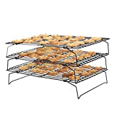 CAN_Deal Carbon Steel Three Tier Non-Stick Cake Cooling Rack, 40 x 25cm