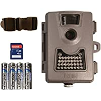 Bushnell Low Glow Game Trail Camera 6 Mp Megapixel 119522 Bundle with Strap, SD Card Lithium Batteries