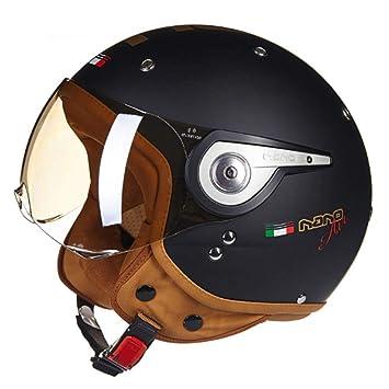 XC Casco De La Motocicleta Que Compite con Medio Casco Modular De La Cara, Casco