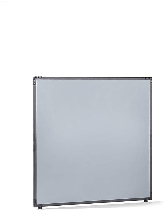 Dividir – plástico, Marco Gris Pizarra – gris plata, H x L 1300 x 1300 mm – Dispositivo de delimitación mampara de separación paredes de separación separación de separación Dividir Dividir Industrial