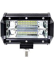 Crewell 72W Spot Cree - Lámpara LED de Barra de Trabajo para Conducción, Niebla, Todoterreno, SUV 4WD