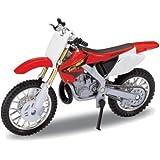 DieCast Modell Motorrad HONDA CR250R rot metall Welly Motorradmodell 1:18