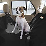 Animal Planet Dog Car Seat Cover 600d - Hammock Seat Cover for Dogs - Universal/Non-slip/Water-Resistant (Black)