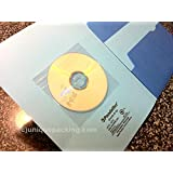 UNIQUEPACKING 100 Pcs Clear CD DVD Disc Sleeves with Improved Adhesive Backing for Magazines Books Binders File Folders