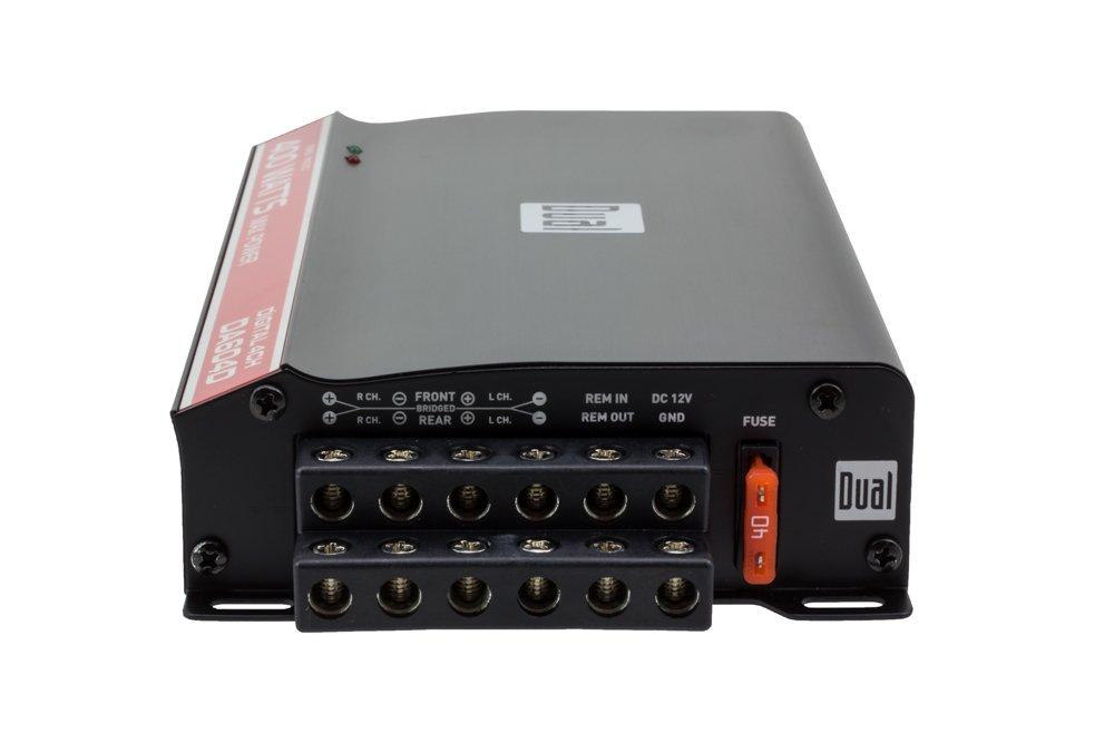 Dual Electronics DA604D High Performance Series MOSFET Class D Digital Four Channel Car Amplifier with 400 Watt Peak Power