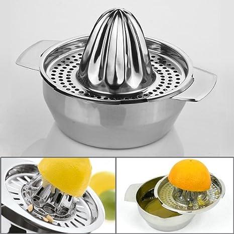 Cobblehome TM acero inoxidable colador de malla de cúpula de alta calidad cromo zumo de frutas naranja lima limón exprimidor de mano exprimidor herramienta ...