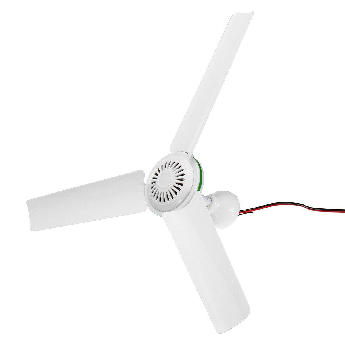 Farway Solar Power Ceiling Fan DC 24V Portable Solar Fan with Switch 3 Blade Caravan Camp