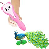 Magnolia Wings 3D Printing Pen,Low Temperature Non Toxic Design,Unleash Creativity for Children Develop Space Thinking From PCL Filament and Drawing Templates,Supports Mobile Power (Pink)