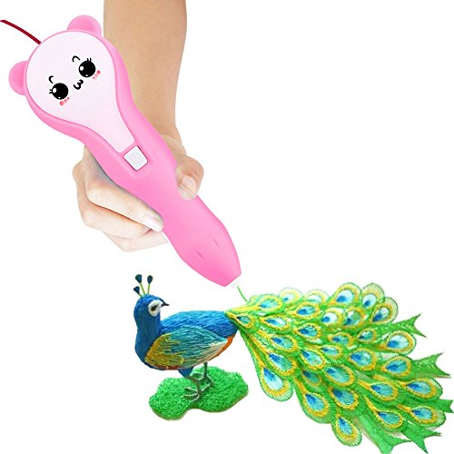 Magnolia Wings 3D Printing Pen,Low Temperature Non Toxic Design,Unleash Creativity for Children Develop Space Thinking From PCL Filament and Drawing Templates,Supports Mobile Power (Pink) by Magnolia Wings