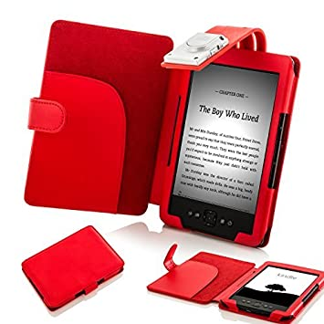 Forefront Cases® Amazon Kindle (4th Generation & 5th Generation - 2012  Release) Case Cover with detachable LED Reading Light – Padded for extra