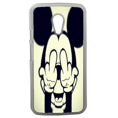 Carcasa posterior para Moto G2-Mickey Mouse y texto Fuck ...