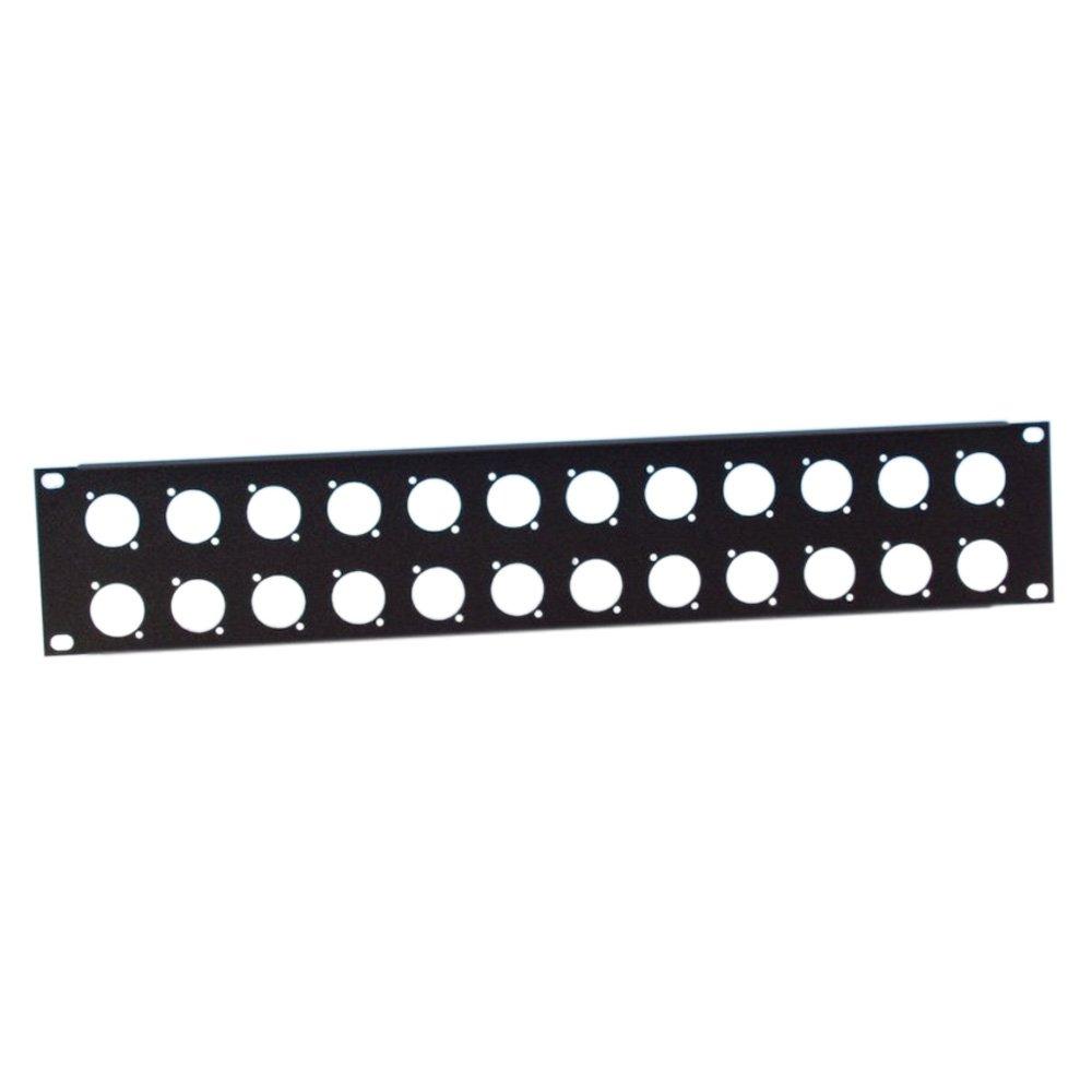 ah 19 Parts 872214 - Profilato rack, 2 U, in acciaio, con 24 vani per connettori XLR ah 19 Parts