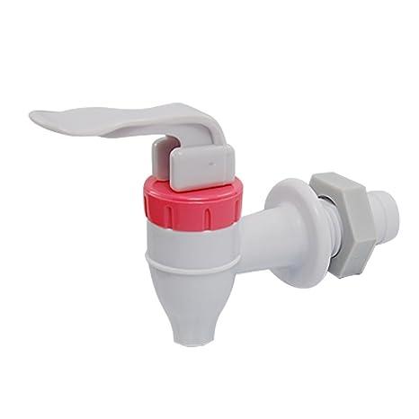 Dispensador de agua de repuesto de plástico blanco y rojo para grifo (presionar para usar