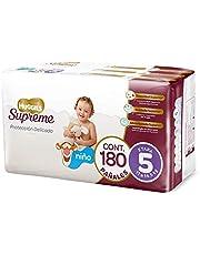 Huggies Supreme Pañal Desechable para Bebé, Etapa 5 Niño, Caja con 180 Piezas, Ideales para niños de 11 a 14.5 kg