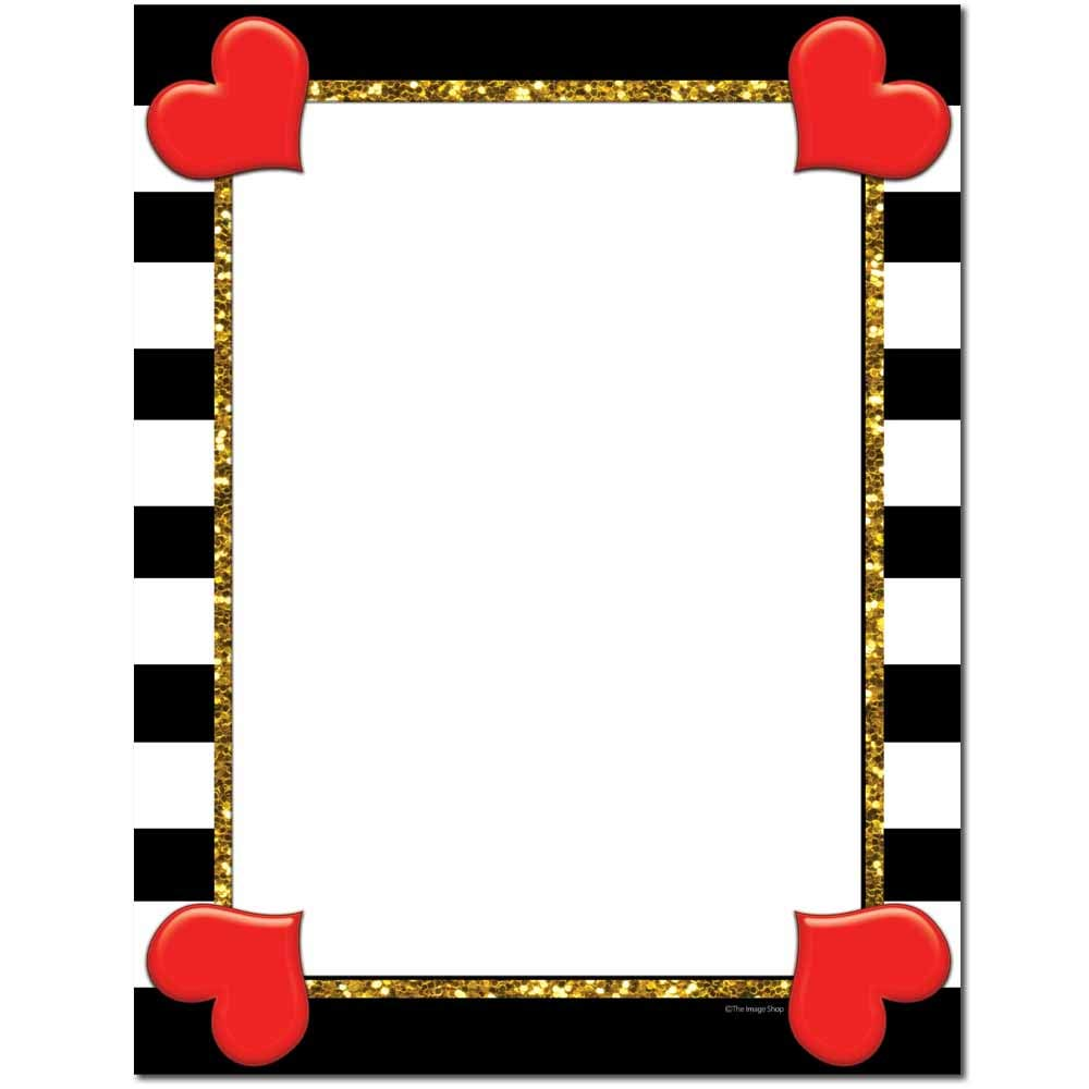 Hearts & Stripes Letterhead Laser & Inkjet Printer Paper (100 Pack)