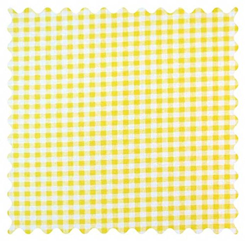 (SheetWorld 100% Cotton Percale Fabric by The Yard, Yellow Gingham Check, 36 x 44)