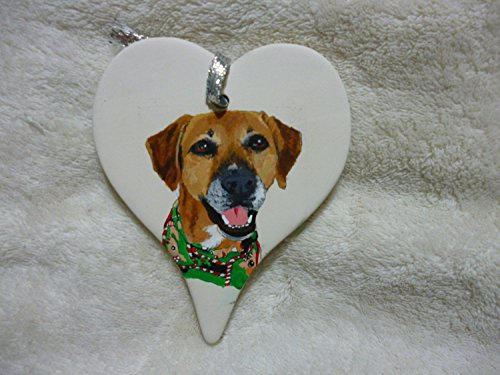 - Pet Portrait Memorial Ornament Hand Painted and Made to Order Dog by Shannon Ivins