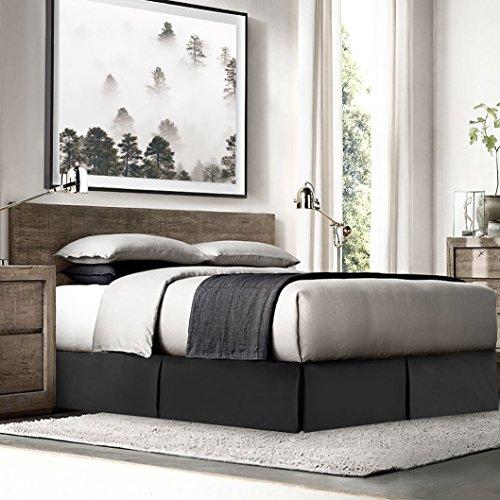 Black bed skirt queen size 18