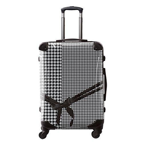 [キャラート] アート スーツケース ベーシック 千鳥格子 フレーム4輪 63L L 保証付 68 cm 4.1kg モノトーン B01M5JBCH8
