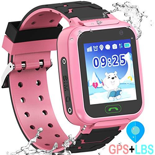 Kids Waterproof GPS Smartwatches Phone - WiFi GPS LBS Tracker Locator 1.4