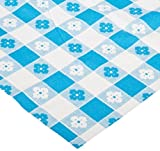 """Party Essentials VM54108 ValuMost Rectangular Plastic Tablecover, 108"""" Length x 54"""" Width, Blue Gingham Print (Case of 24)"""
