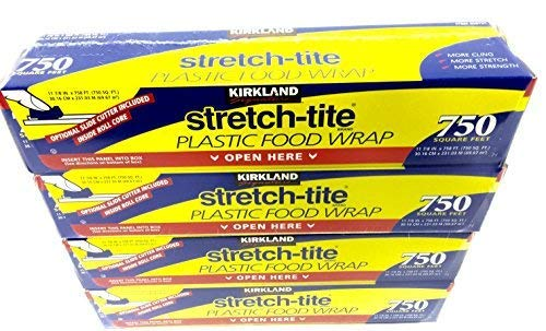 Stretch Wrap Tite Food (4 Pack - Kirkland Signature Stretch Tite Plastic Food Wrap HUGE 11 7/8