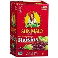Sun-Maid Natural Raisins -  Dried Fruit Snacks Healthy snacks for kids - 72oz (4.5lbs total)