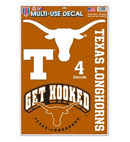 Texas Longhorns Window - WinCraft NCAA Official University of Texas Longhorns 11''x17'' Multi-Use Decal
