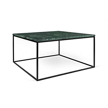 Temahome Table Basse Rectangulaire Gleam 50 Plateau En Marbre Vert