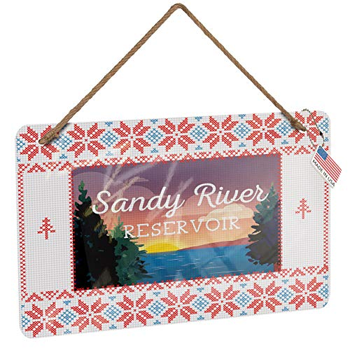 NEONBLOND Metal Sign Lake Retro Design Sandy River Reservoir Vintage Christmas Decoration (River Sandy Reservoir)