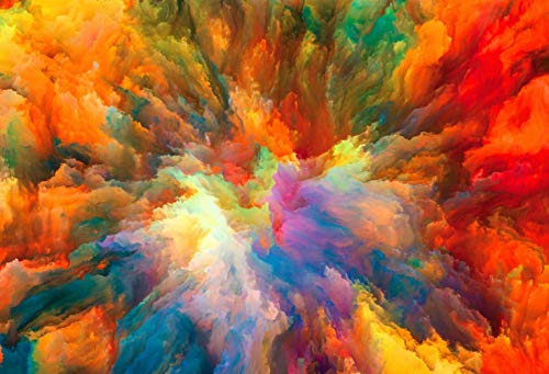 7x5ft Color Fractal Paint Explosion Splash Ink Watercolor Personality Pictorial Cloth Customized Photography Backdrop Digital Printing Background Photo Studio Prop ()