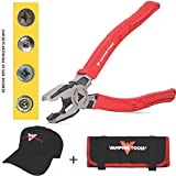VamPLIERS World's Best Pliers! 8'' Pro Lineman's Specialty Screw Extraction Pliers. Extract Stripped Stuck Security, Corroded, or Rusted Screws + Tool Pouch & VAMPIRE TOOLS CAP