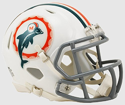 - Riddell Miami Dolphins NFL Revolution Speed Mini Football Helmet 1966 Anniversary