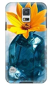 Simply Case Designs Orange Flower Design PC Material Hard Case for Samsung Galaxy S5