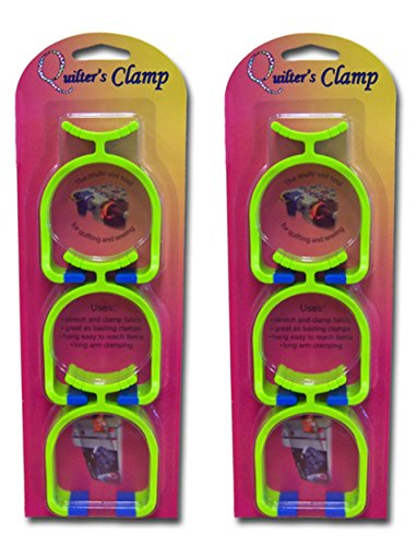 Noble Notions Quilter's Clamp Two 3-Packs, 6 Total Clamps by Quilter's Clamp